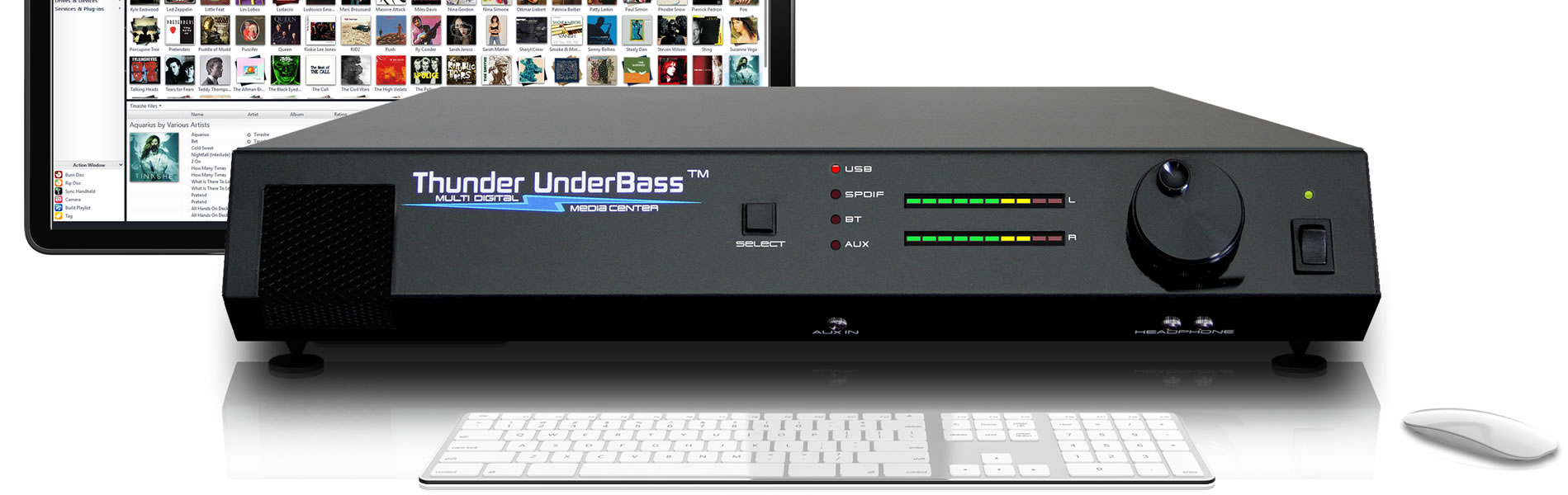 thunder underbass with a mac computer