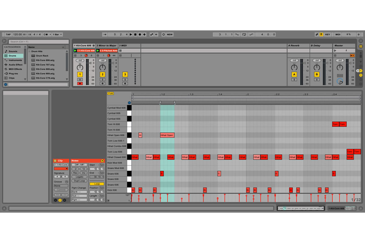 screenshot of ableton live 9 - session view