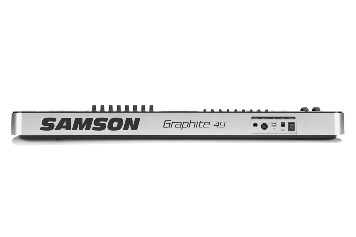 Samson Graphite 49 semi-weighted key MIDI Controller - back view